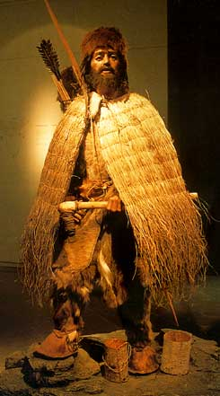Ötzi the Iceman in clothing representative of his time