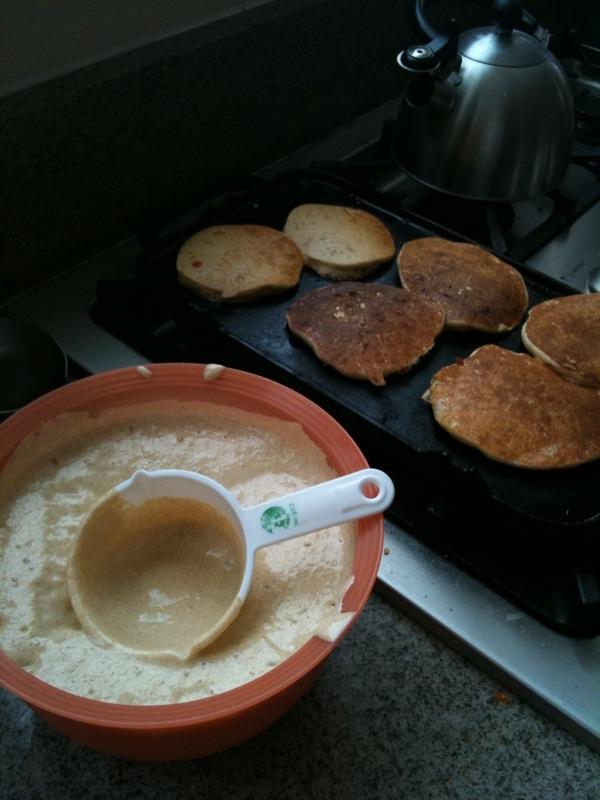 Making Einkorn Pancakes