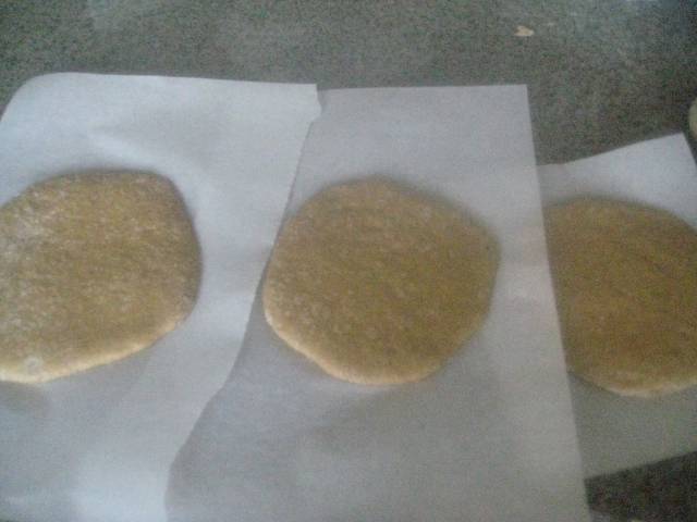 Rolled Einkorn Pitas Resting for 30 Minutes
