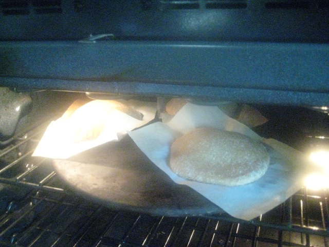 Einkorn Pitas Ready Placed for Baking