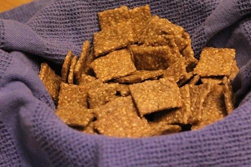 Sesame Einkorn Whole Grain Crackers
