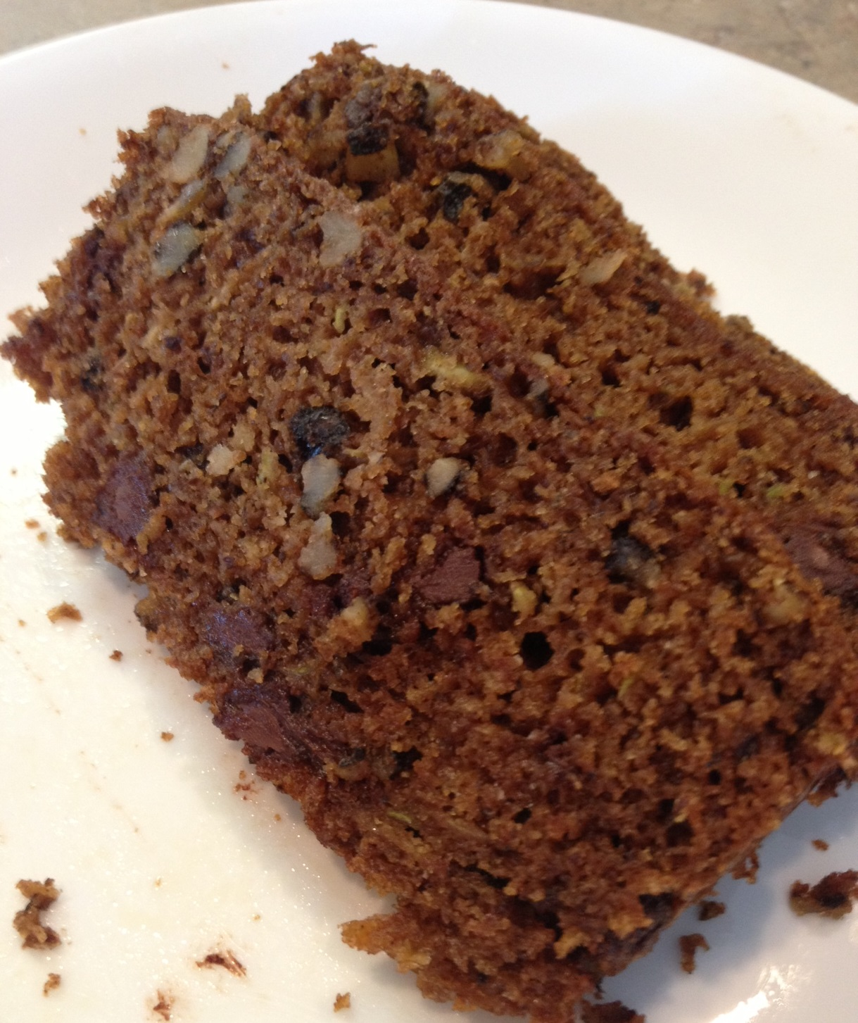 Einkorn Banana Chocolate Chip Zucchini Bread