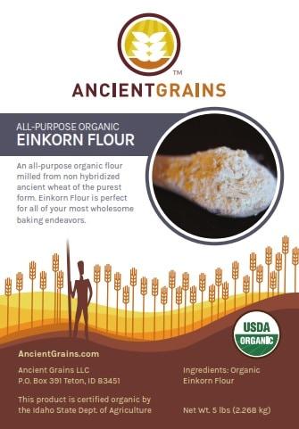 Einkorn Flour Label