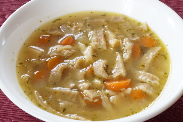 Chicken (Turkey) Soup with Einkorn Noodles