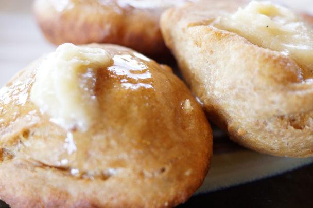 einkorn scones honey butter