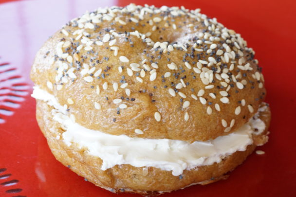 einkorn sourdough bagel