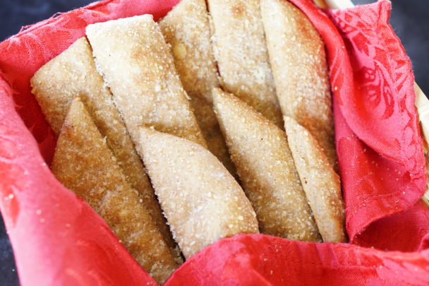 einkorn sourdough breadsticks