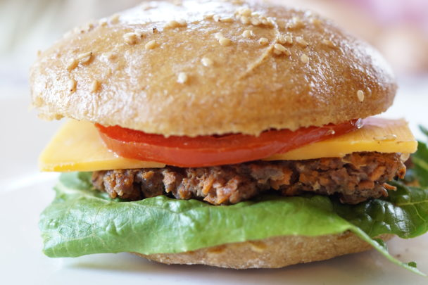 einkorn sourdough hamburger