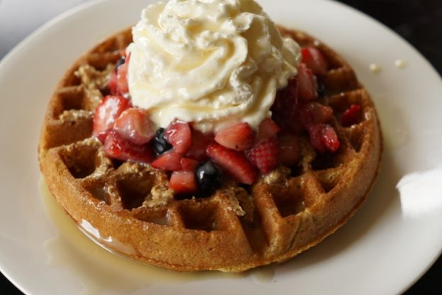 multi-grain einkorn waffle