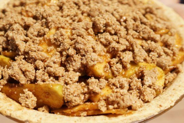 Apple pie ready to bake