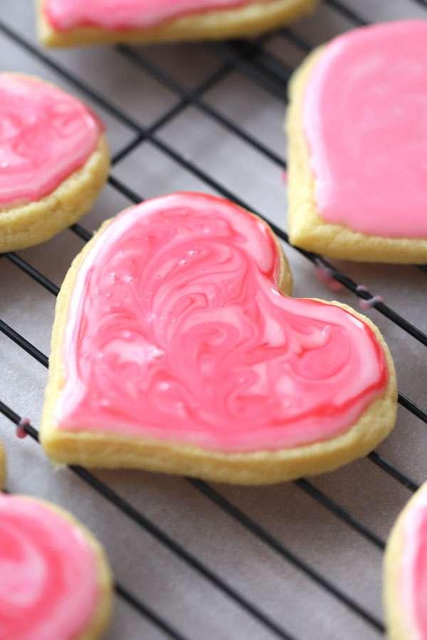einkorn sugar cookies with glaze